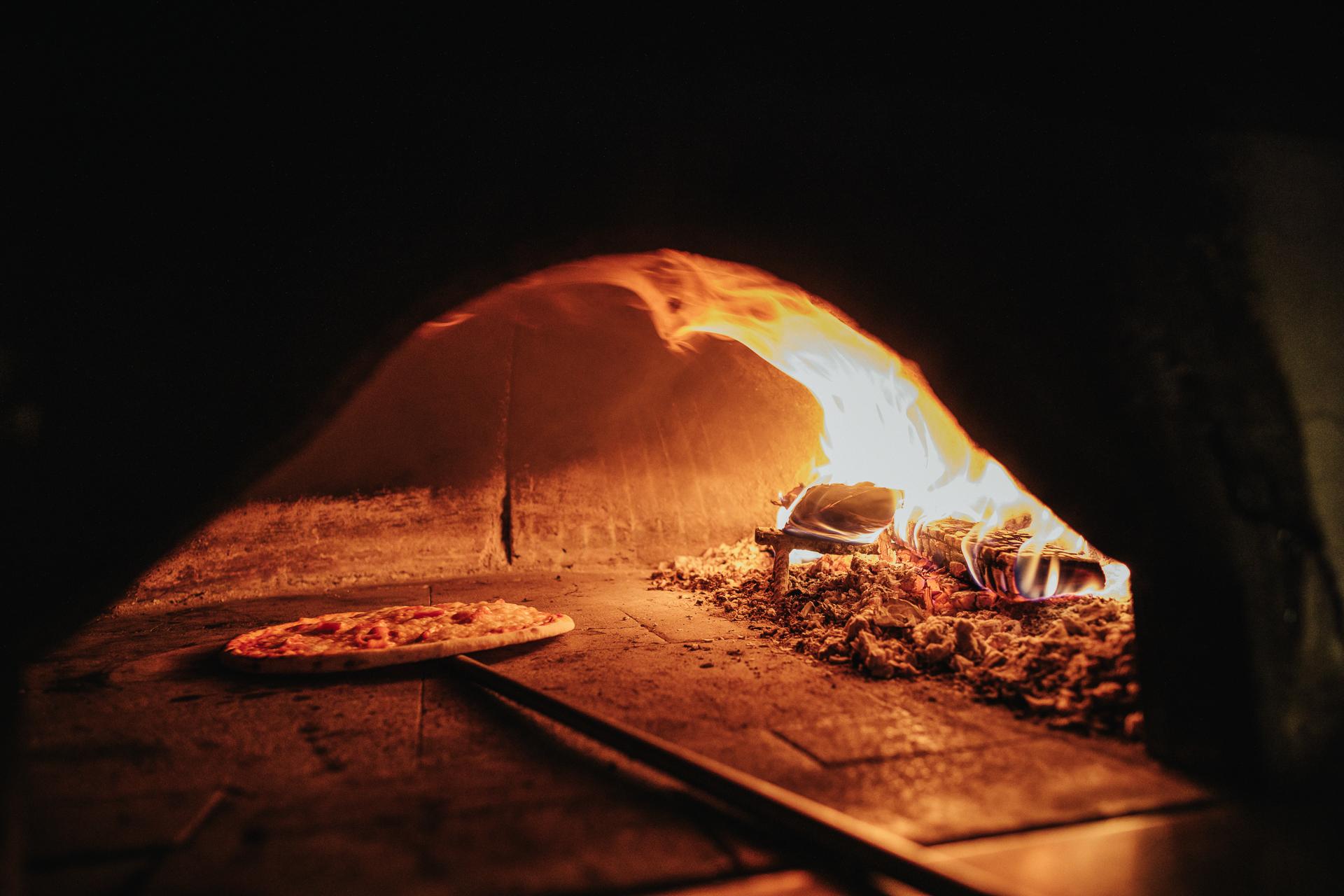 Pizzeria with wood oven